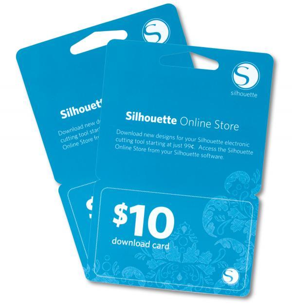 Silhouette Cameo & Portrait & Curio - 10$ Download card
